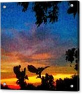 Exagerated Sunset Painting Acrylic Print