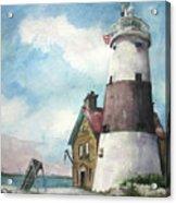 Execution Rocks Lighthouse Acrylic Print