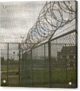 Exercise Yard Through Window In Prison Acrylic Print