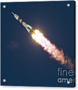 Expedition 46 Soyuz Launch To The Iss Acrylic Print