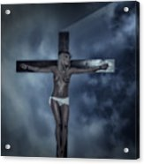 Experimental Crucifix In The Light Acrylic Print
