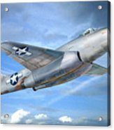 Experimental Jet Fighter Xp-83 In Fly Acrylic Print