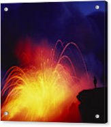 Exploding Lava And Person Acrylic Print