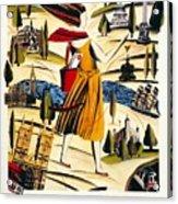 Explore London With A London Transport Explorer Pass - London Underground - Retro Travel Poster Acrylic Print