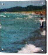 Exploring The Beach Acrylic Print