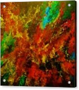 Explosion Of Colour Acrylic Print