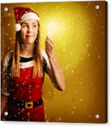 Explosive Christmas Gift Idea Acrylic Print