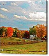 Expressionalism Autumn Farm Acrylic Print