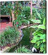 Expressionalism Beautiful Garden  Acrylic Print