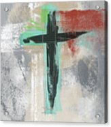 Expressionist Cross 3- Art By Linda Woods Acrylic Print
