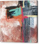 Expressionist Cross 5- Art By Linda Woods Acrylic Print