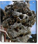 Exquisite Jade Rock - Yu Garden - Shanghai Acrylic Print