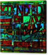 Extended Play Graffiti Radio/tonyadamo Acrylic Print