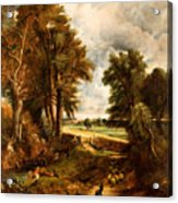 Extensive Landscape With Boy Drinking Water Acrylic Print