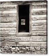 Exterior Log Cabin Wall Acrylic Print