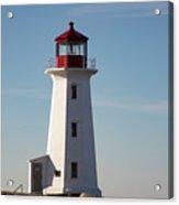 Exterior Of Peggys Cove Lighthouse, Nova Scotia, Canada Acrylic Print