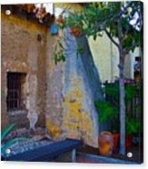 Exterior Wall Of Serra Chapel Mission San Juan Capistrano California Acrylic Print