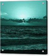 Extreme Green Sunset  Acrylic Print