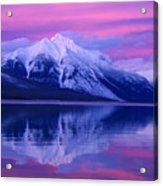 Extreme Sunset On Lake Mcdonald Acrylic Print