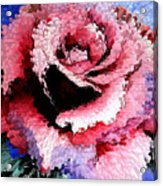 Extruded Rose Acrylic Print