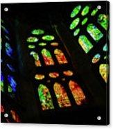 Exuberant Stained Glass Windows Acrylic Print