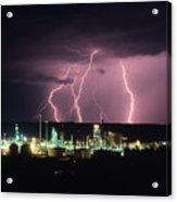 Exxon Lightning Acrylic Print
