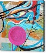 Eye In Blue Acrylic Print