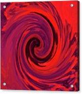 Eye Of The Honu - Red Acrylic Print