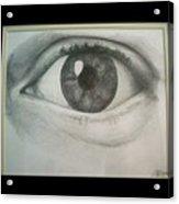 Eye Portrait Acrylic Print