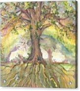 Eye See My Healing Tree Acrylic Print
