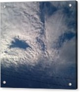 Eyes In The Clouds Acrylic Print