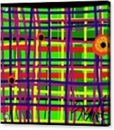 Eyes On The Grid Acrylic Print