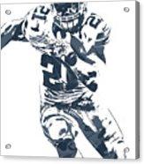 Ezekiel Elliott Dallas Cowboys Pixel Art 3 Acrylic Print