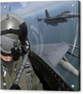 F-16 Fighting Falcons Flying Acrylic Print