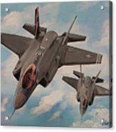 F-35's On Assignment  Acrylic Print