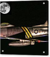 F-86 And The Moon Acrylic Print