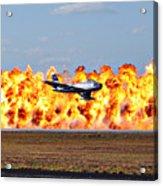 F-86 Wall Of Fire Acrylic Print