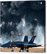 F/a -18 Super Hornet, U S Navy Blue Angeles Acrylic Print