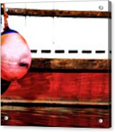F Dock Buoy Acrylic Print