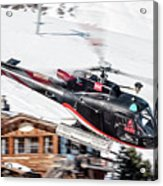 F-gsdg Eurocopter As350 Helicopter Courchevel Acrylic Print