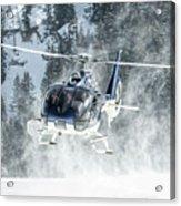 F-hana Eurocopter Ec-130 Landing Helicopter At Courchevel Acrylic Print