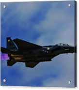 F15 Eagle In Afterburner Acrylic Print