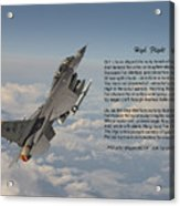 F16 - High Flight Acrylic Print