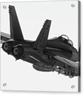 Fa-18 In Black And White Acrylic Print