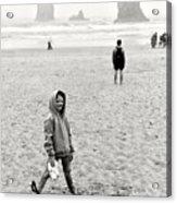Faa-beach Fun.  Acrylic Print