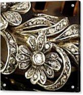 Faberge Diamond Hair Comb Detail Acrylic Print