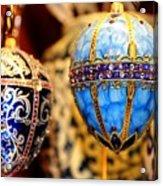 Faberge Holiday Eggs Acrylic Print