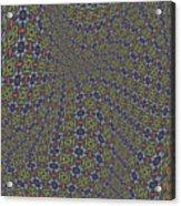 Fabric Design 20 Acrylic Print by Karen Musick
