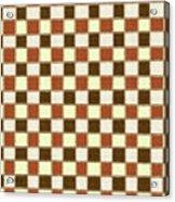 Fabric Design Mushroom Checkerboard Abstract #2 Acrylic Print