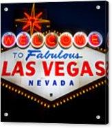 Fabulous Las Vegas Sign Acrylic Print